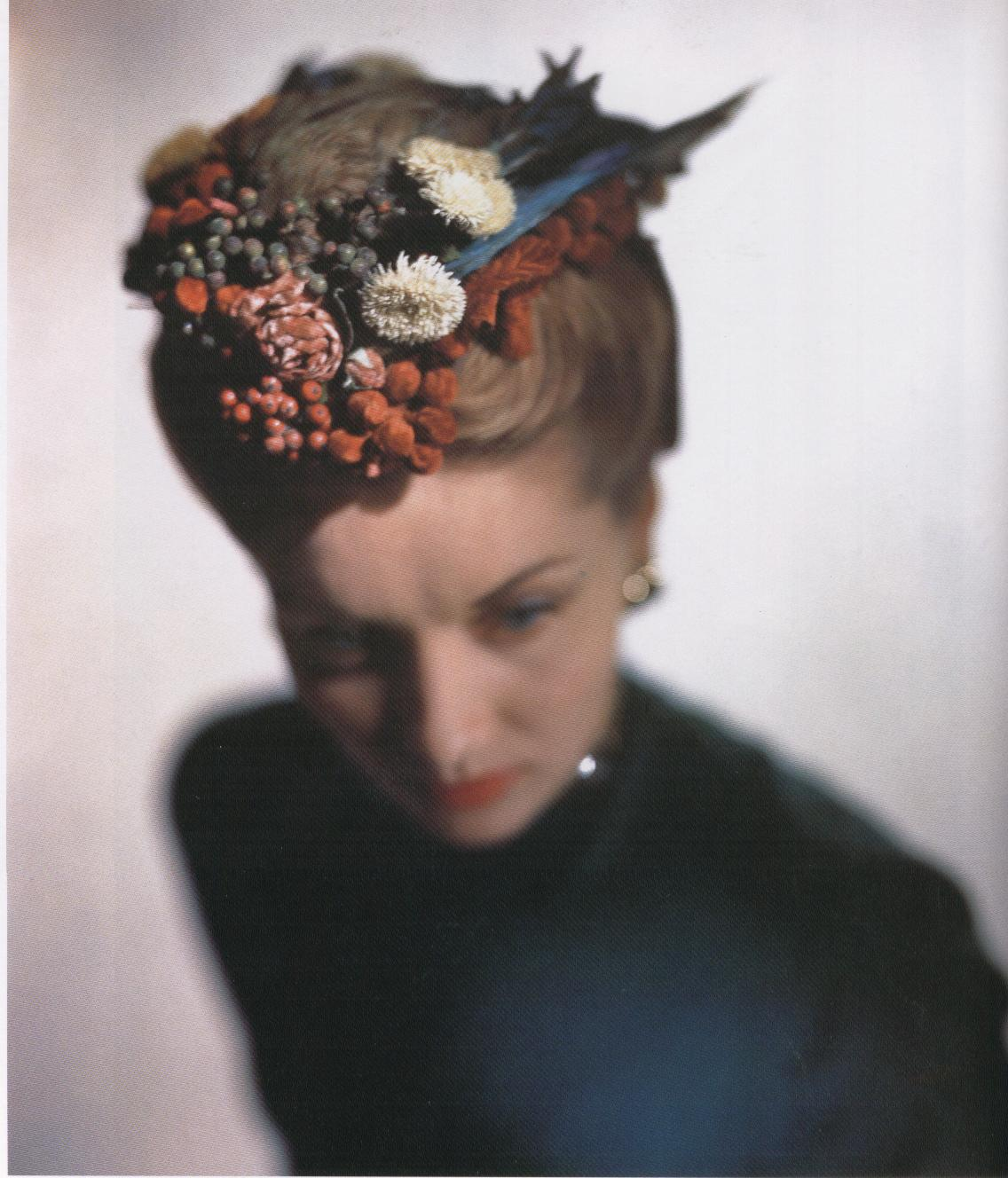 Lilly daché hat,photo: E.Steichen for Vogue USA, 1946