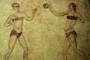 mosaic at Piazza Armerina, Sicily