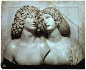Tulio Lombardo, Bacchus and Ariadne, 1500-10c, Kunsthistorisches museum, Wien, Austria