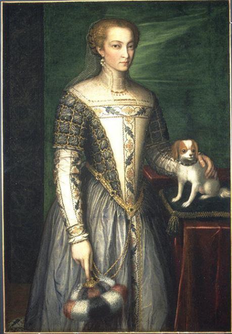 Bernardino Campi,cremonese,dama,fine 1560s,met NY