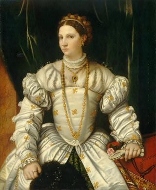 Moretto da Brescia, lady in white,1540c,Wash nat gal USA
