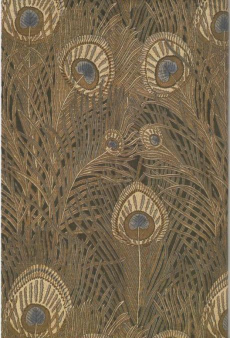 Rex Silver, Peacock Feather textile for Liberty, 1900c