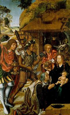 Vasco Fernandes,Adoration of the Magi,1501-6,Grao Vasco mus, Viseu,Portugal