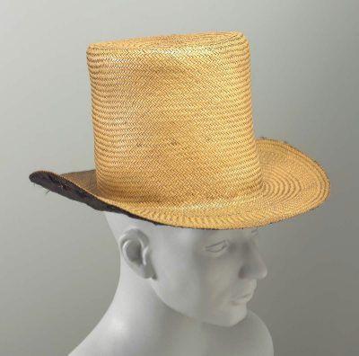 cappello, paglia, 1850c, mfa Bost