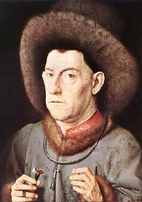Jan van Eyck,uomo con garofano,1435c,MS Berlin