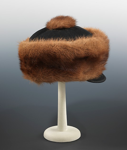 male hat, wool and fur, 1900c, met ny