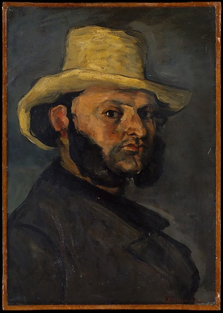 paul Cezanne, Gustave Boyer in a straw hat, 1870-71, met ny