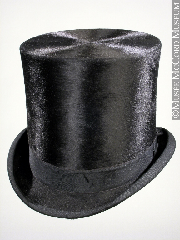 silk plush top hat,1892,McCord mus