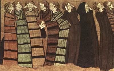 anon,tomba Don Sancho Saiz de Carillo,donne,1300c,mus NAC Barcelona