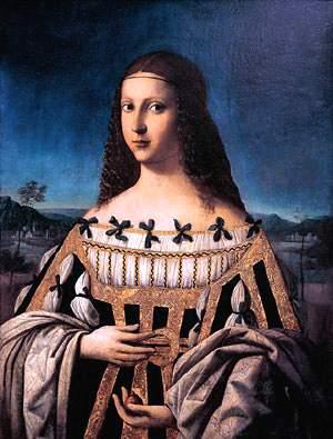 Bartolomeo Veneto,Luc Borgia come Beata Beatrice d'Este,Snite mus Indiana