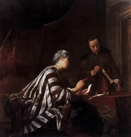 Chardin, sealing a letter,1733,Schloss Charlot. Berlin