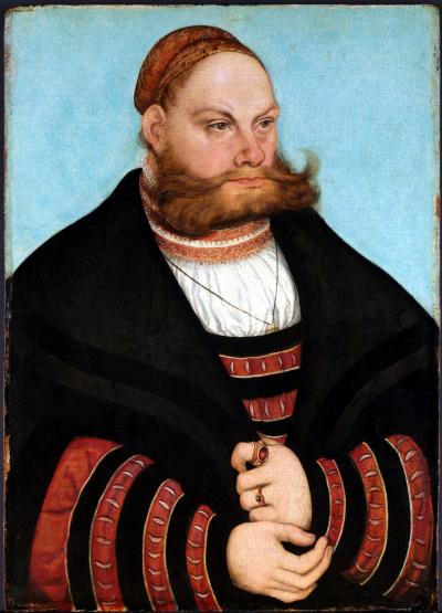 L.Cranach elder,man,1532,met NY