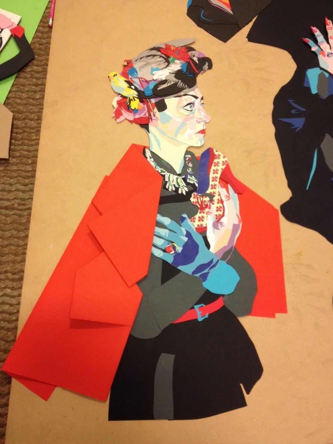 Francesco Merletti, untitled, tissue paper collage, 2013