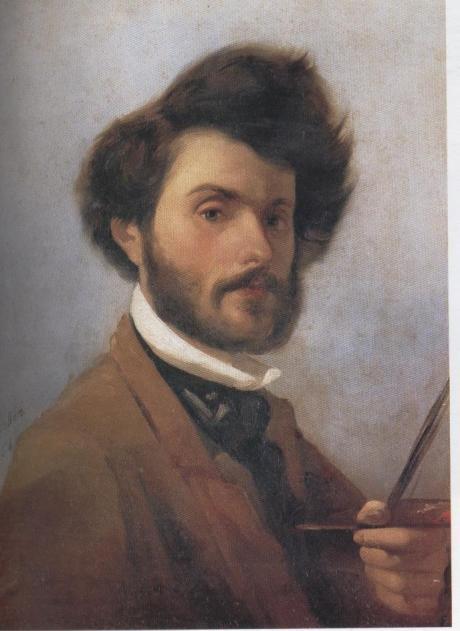 G.Fattori, autoritratto,1854,Pitti
