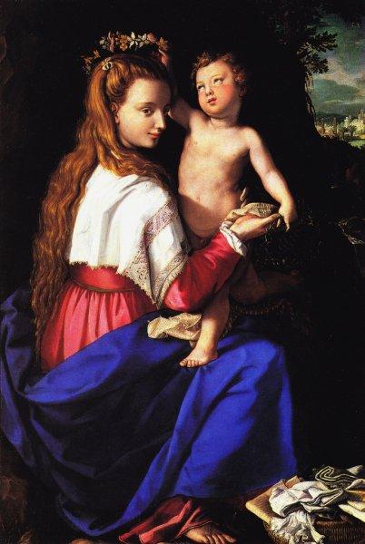 A.Allori,madonna incoronata da bambin gesu, 1590,Palazzo Pitti FI