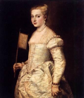 Tiziano, ragazza con ventaglio,1556,G Dresden