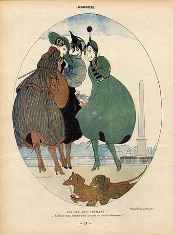 35154-gerda-wegener-1916-elegantes-parisienne-place-de-la-concorde-teckel-dog-hprints-com