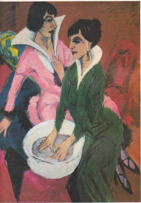 E.L.Kirchner,Erna e Gelda, 1913c
