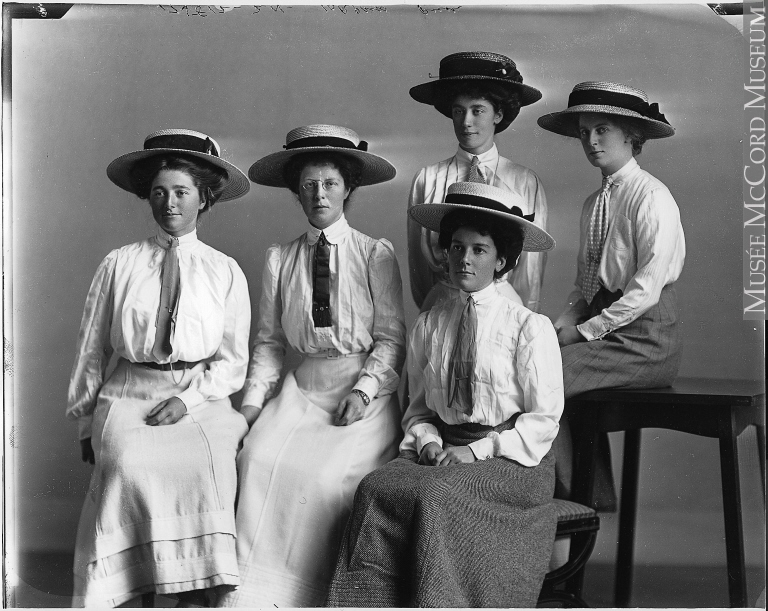 Mrs Gray s group,1909,McCord mus
