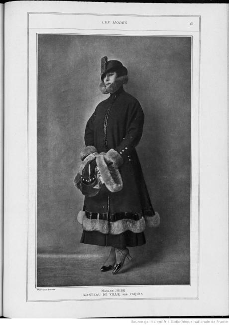 Paquin, manteau de ville, 1915
