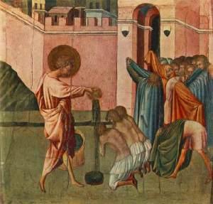 Giovanni di Paolo,Battesimo,1440s,Esztergom