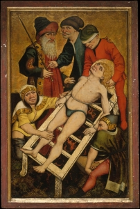 master of the acts of mercy,austrian,martydom st Lawrence,1465c,met NY