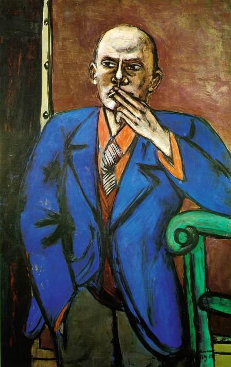 beckmann-autoritratto-in-giacca-blu-1950,St Louis Art mus
