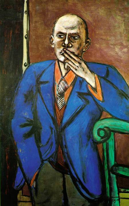 beckmann-autoritratto-in-giacca-blu-1950,St Louis Art mus