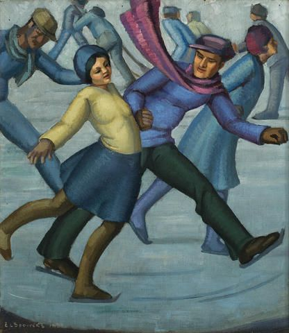 Ethel Spowers, skaters, 1931 Bonhams