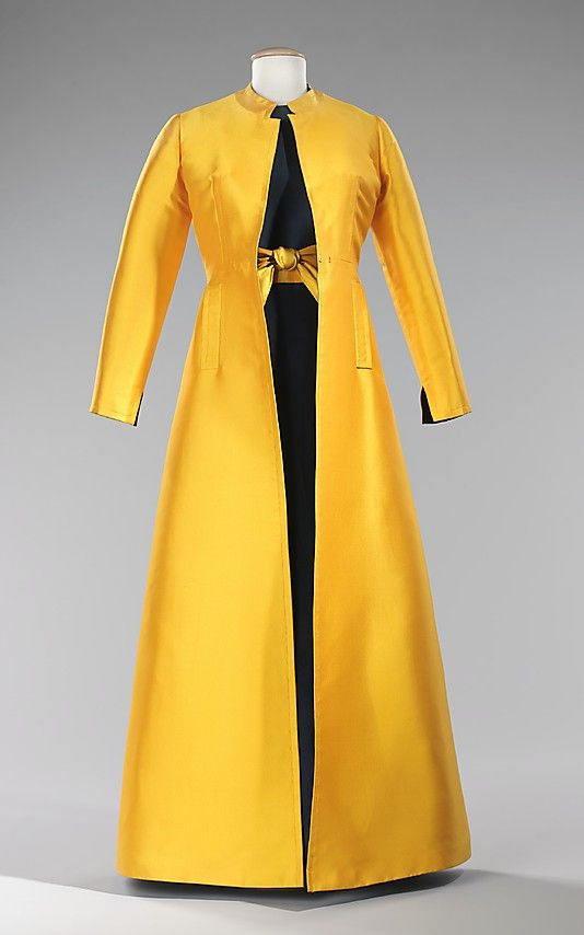 Mme Gres, sleevless dress, 1968 with overcoat, met ny