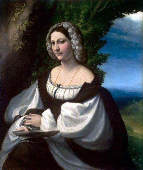 Correggio, lady,1517-19.Hermitage,  St.Pet