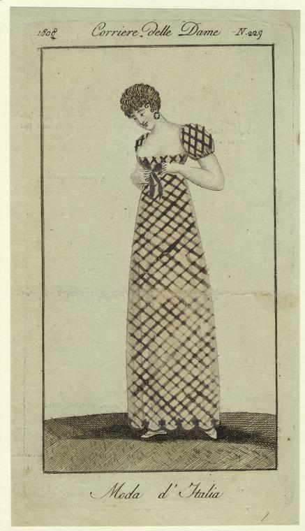 Il corriere delle dame,  moda d'italia,  1808