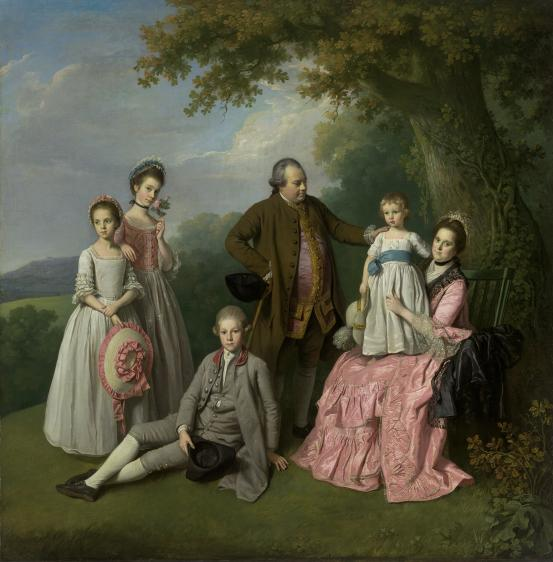 Nathaniel Dance, Pybus family,1769c,NGVictoria