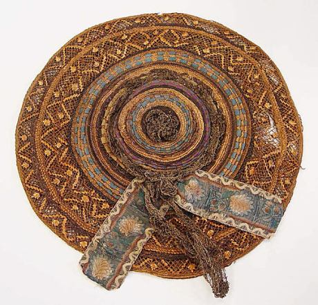 straw hat, diameter 35.6 cm, met ny