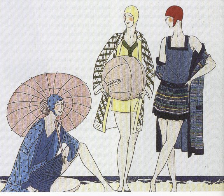giornale Art Gout Beauté, costumi mare,1927