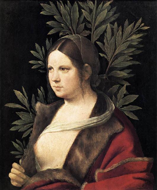 1506 Giorgione (Giorgio Barbarelli from Castelfranco 1477-1510) Portrait of a Young Woman, Laura