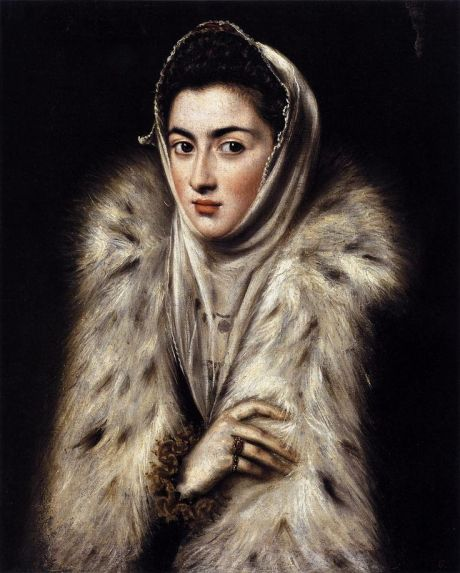 El Greco. (The lady in a fur wrap), 1580 Glasgow mus e galls.