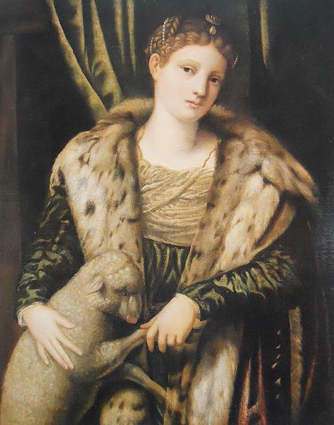 Moretto da Brescia Bonvicino Alessandro, donna come Sta Agnese, pc Svizzera
