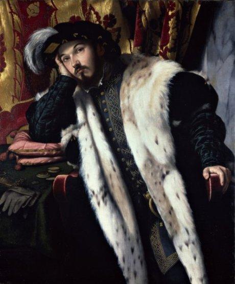 Moretto da Brescia Bonvicino Alessandro, uomo forse Fortunato Martinengo Cesaresco, 1522, nat gal lon