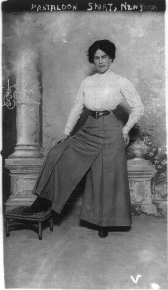 divided skirt for cycling, USA 1900c