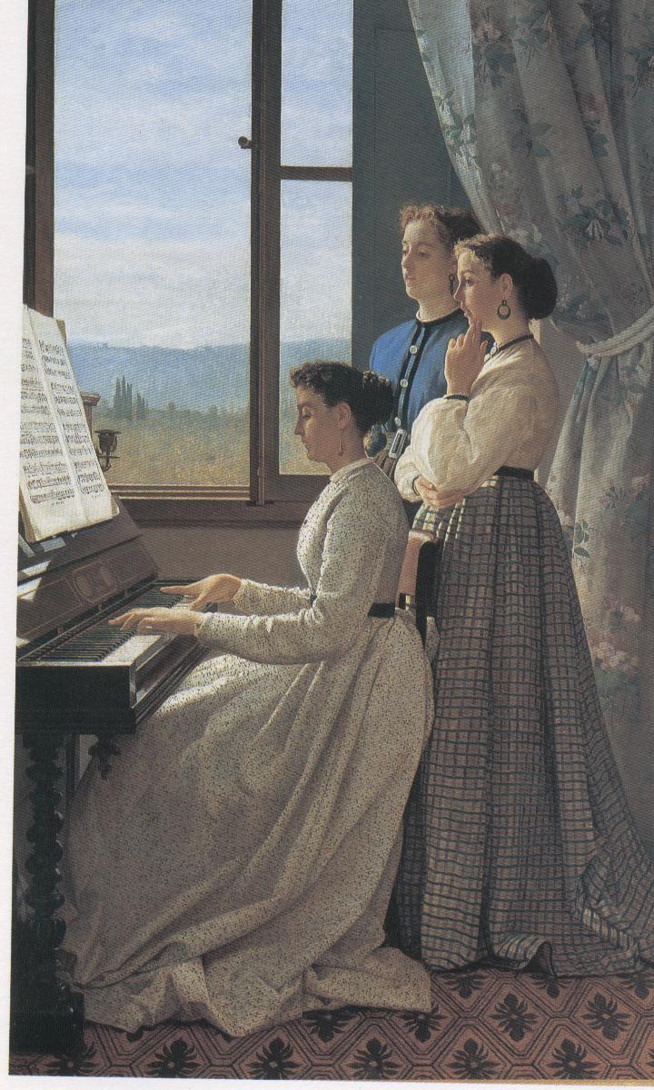 S.Lega, Il canto di un stornello,1867, Pitti