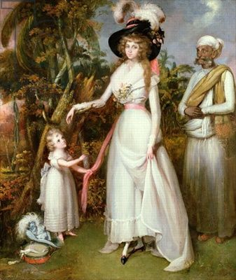 colonial-art-mrs-graham-of-kinross-her-daughter-and-a-jamadar-1786c